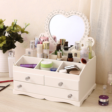2017 Hot Sale Organizer Top Wooden Storage Box Made Up Table Cosmetic Box Jewel Case Carved Rectangle Eco-friendly Drawer