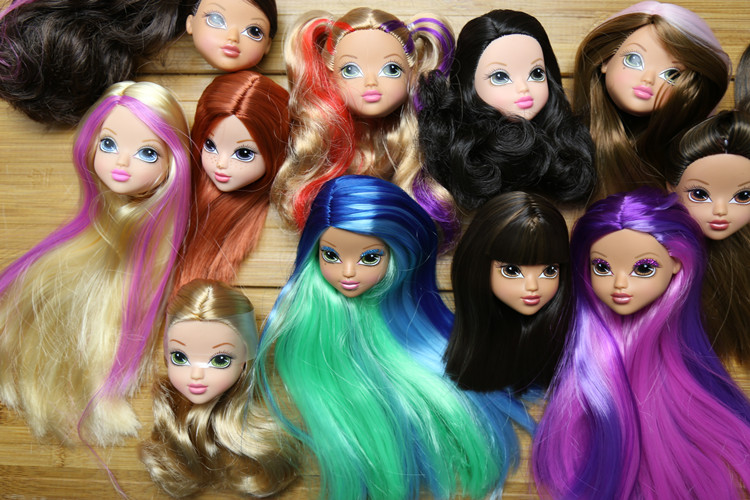 Отличное качество кукла головы и тела с Раскрашенная волосы DIY Интимные аксессуары для Барби куклы младенца DIY Игрушечные лошадки Новый сти... ...