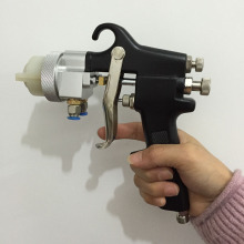 цена на SAT1182 mixed gelcoat spray double nozzle spray gun paint hvlp dual head pneumatic tools