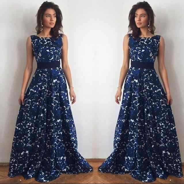 cf889c9f96b22 FEITONG 2018 Korean Dress Sexy Fashion Floral Lace Evening Party Formal  Prom Ball Gown Long Maxi Dress Vestido