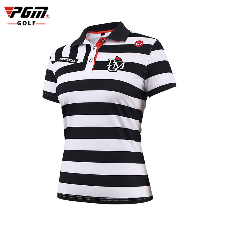 2019 Pgm femmes Golf T Shirt rayé Sportswear hauts respirant Ultra-mince Golf chemises en plein air confortable vêtements D0353