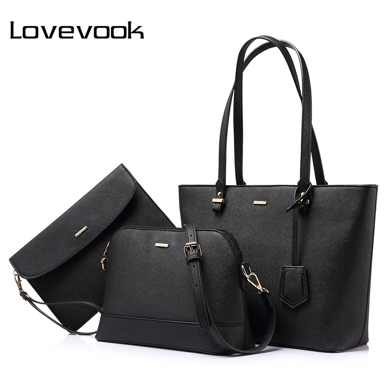 LOVEVOOK Brand Fashion Women Shoulder Bags Large Capcity Totes Ladies Three Composite Bag Female Zipper Crossbody
