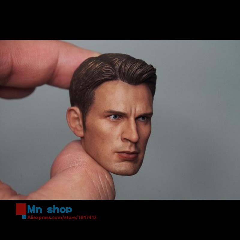 1/6 Head Sculpt The Avengers 2 Captain America Steve Rogers No Neck Head Carving Model for 12 Action Figure Toys Accessories metal colour the avengers civil war captain america shield 1 1 1 1 cosplay steve rogers metal model shield adult replica wu525