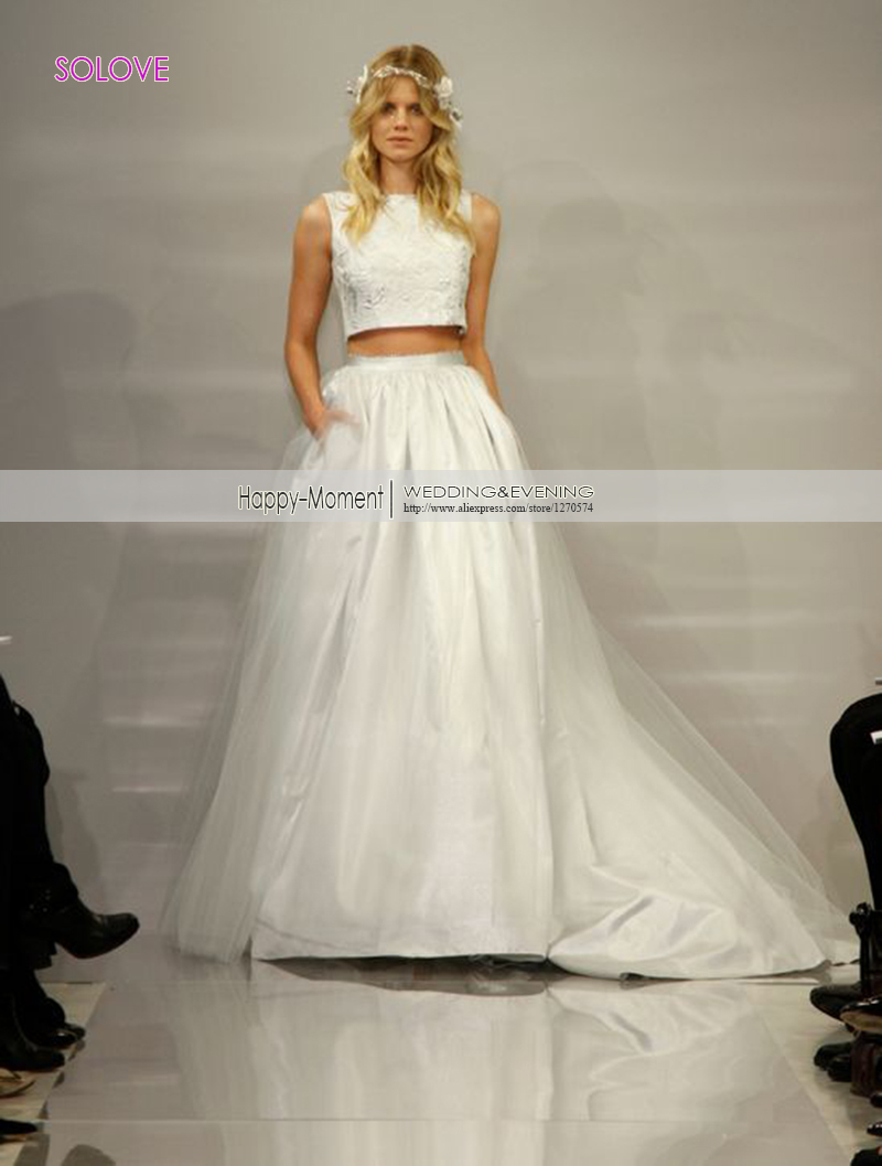Elegant 2 Piece Wedding Dresses : Popular piece wedding dresses buy cheap