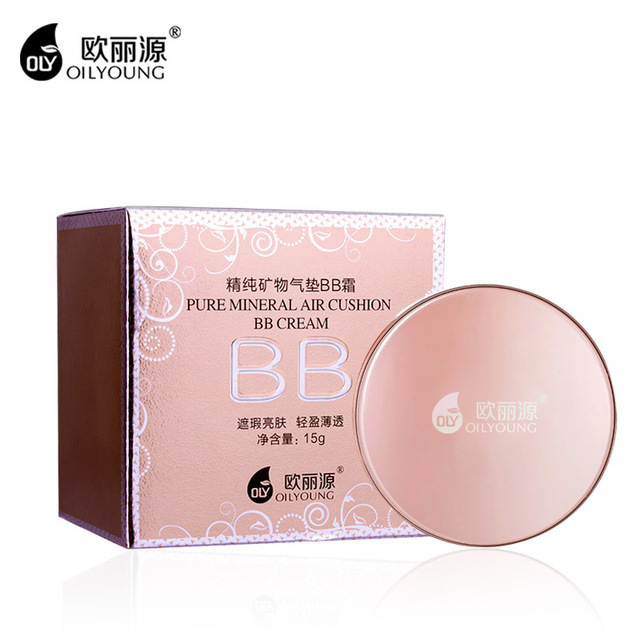 OILYOUNG Concealer Cushion BB Cream Whitening Moisturizing Hydrating Oil-Control Pores Long-Lasting Waterproof Foundation Makeup