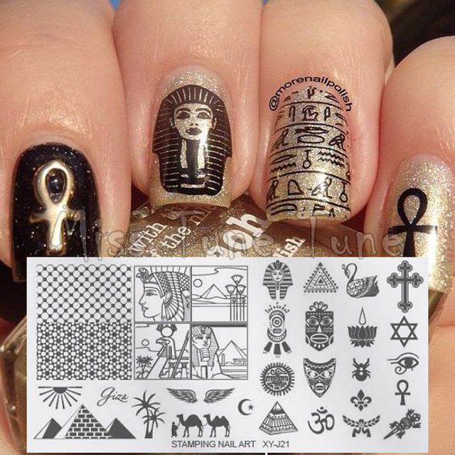 Nail Art Stamping Template Stamp Plates Image Transfer Mysterious