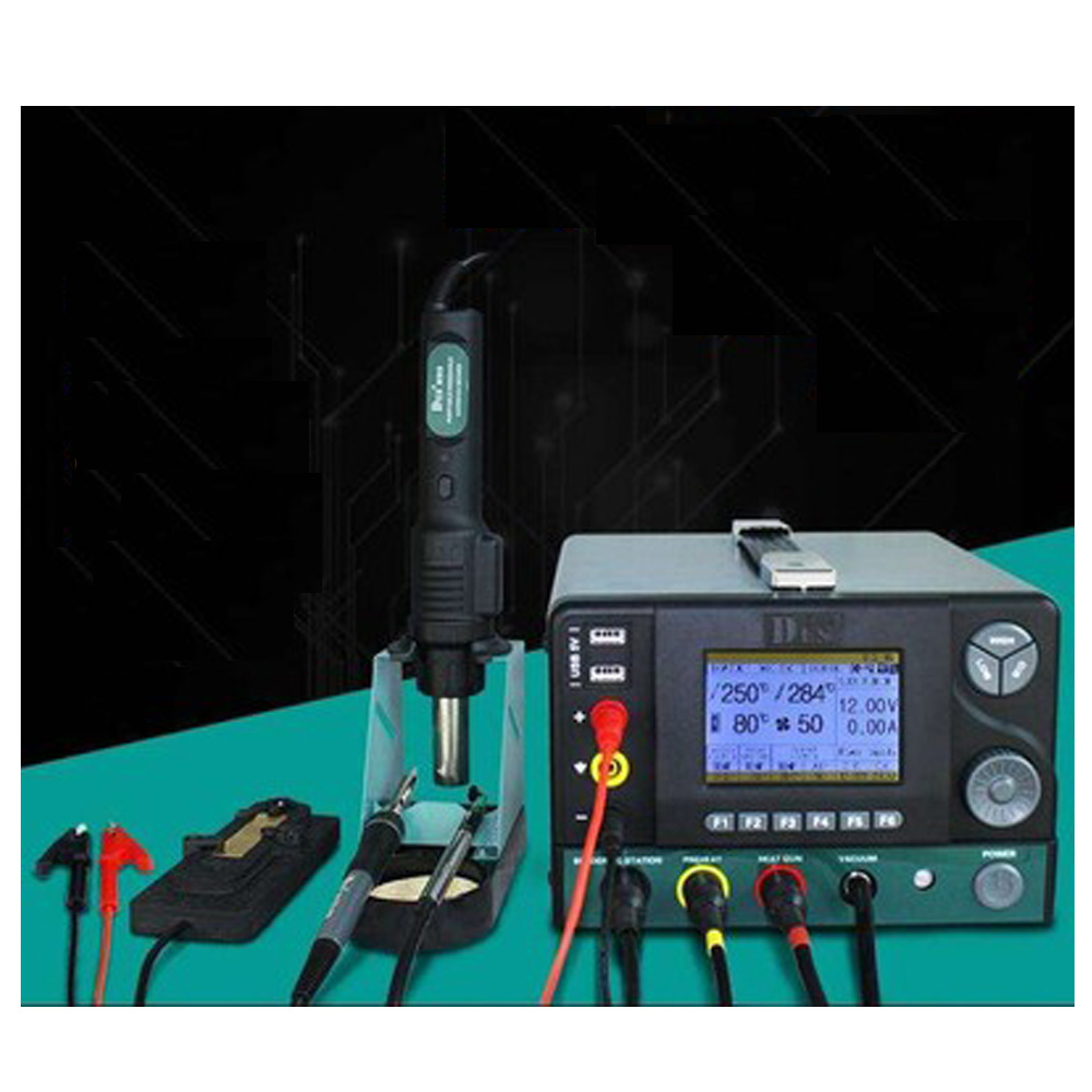 5 in 1 Comprehensive Desoldering Station SMD Maintenance Station Soldering Iron Heat Gun With Regulated power supply DES95