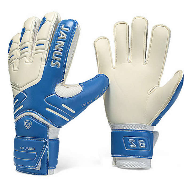 JANUS Brand Professional Goalkeeper Gloves Finger Protection Thickened Latex Soccer Football Goalie Gloves Goal keeper Gloves manguera expandible