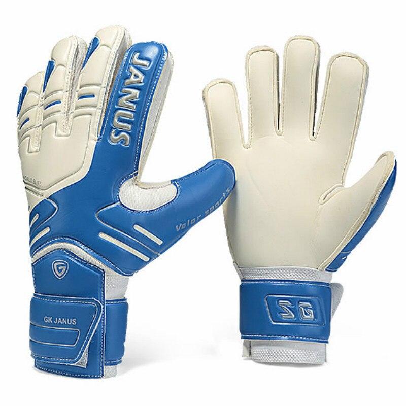 Бренд JANUS, профессиональные перчатки для вратаря, защита пальцев, утолщенные латексные футбольные перчатки для вратаря, перчатки для вратар...
