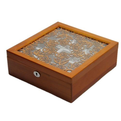 The new rose carved jewelry box of Valentine's Day gift of choice for double wooden jewelry box jewelry box
