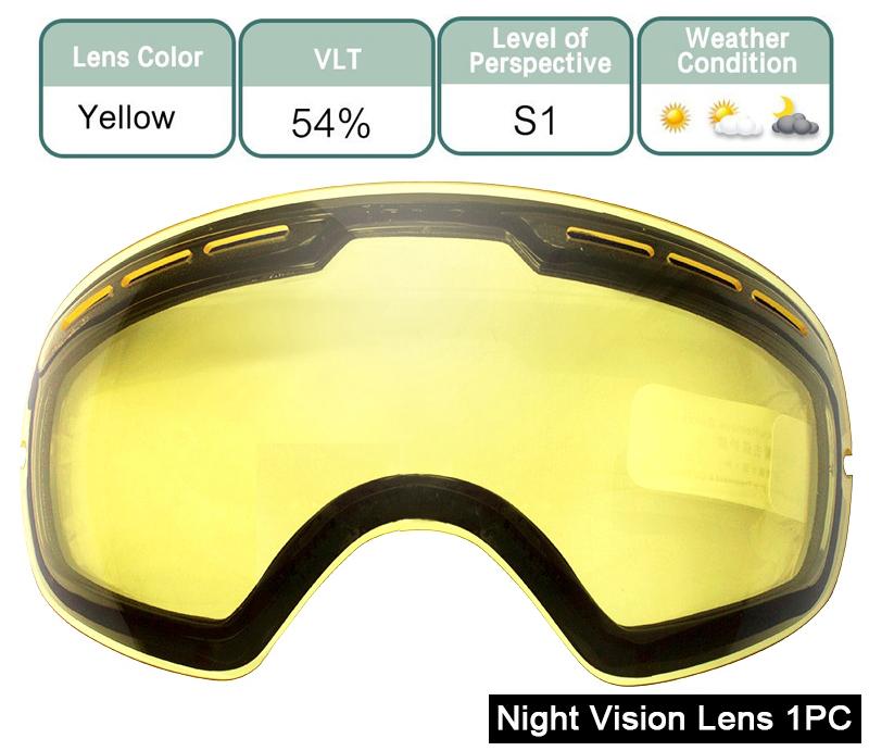 ski goggles Night