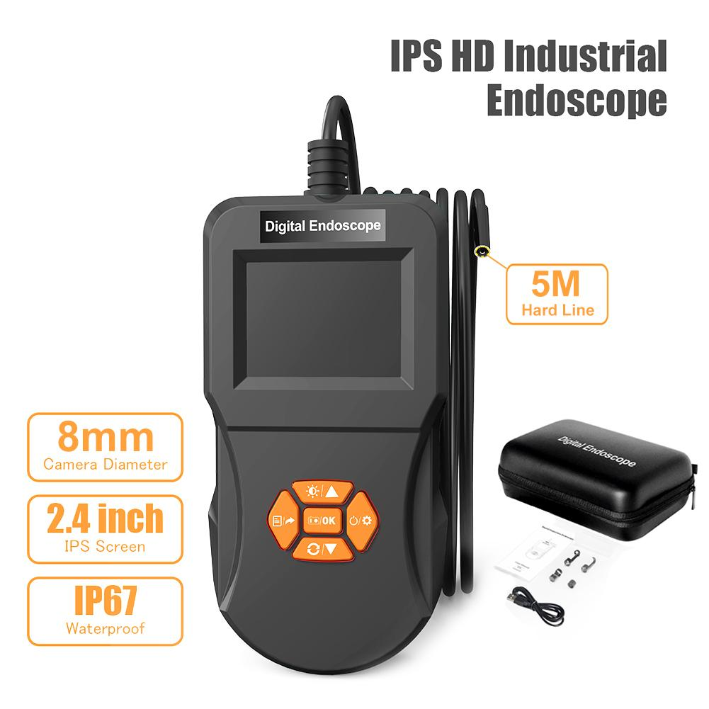 2.4 Inch IPS High Definition Screen Digital Detection Endoscope Endoscope With Camera Video Recording Function Waterproof Probe