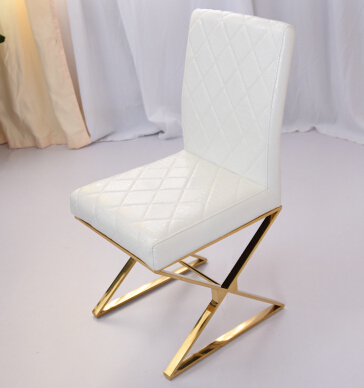 Gold-plated stainless steel chair. Restaurant paper art C90 chair диски helo he844 chrome plated r20
