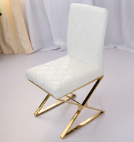 Gold plated stainless steel chair. Restaurant paper art C90 chair
