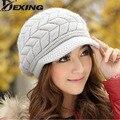 [Dexing] sra. versión coreana de la caída y los días de invierno de lana de angora litera sombrero caliente del invierno del casquillo del oído casquillo hecho punto niño marea