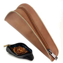 Firedog BrandPortable Geninue Leather Single Smoking Pipe Pouch Bag Holder Tobacco Pipe Pouch Case CL44 Free Shipping
