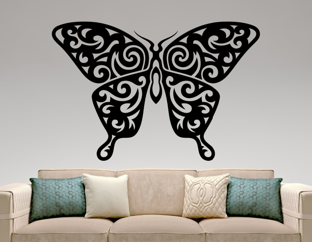 Beautiful butterfly wall decal special design animal wall - Beautiful wall stickers for living room ...