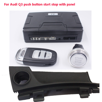For Audi Q3 Car one push button Start stop system Remote key start stop with panel+keyless entry system