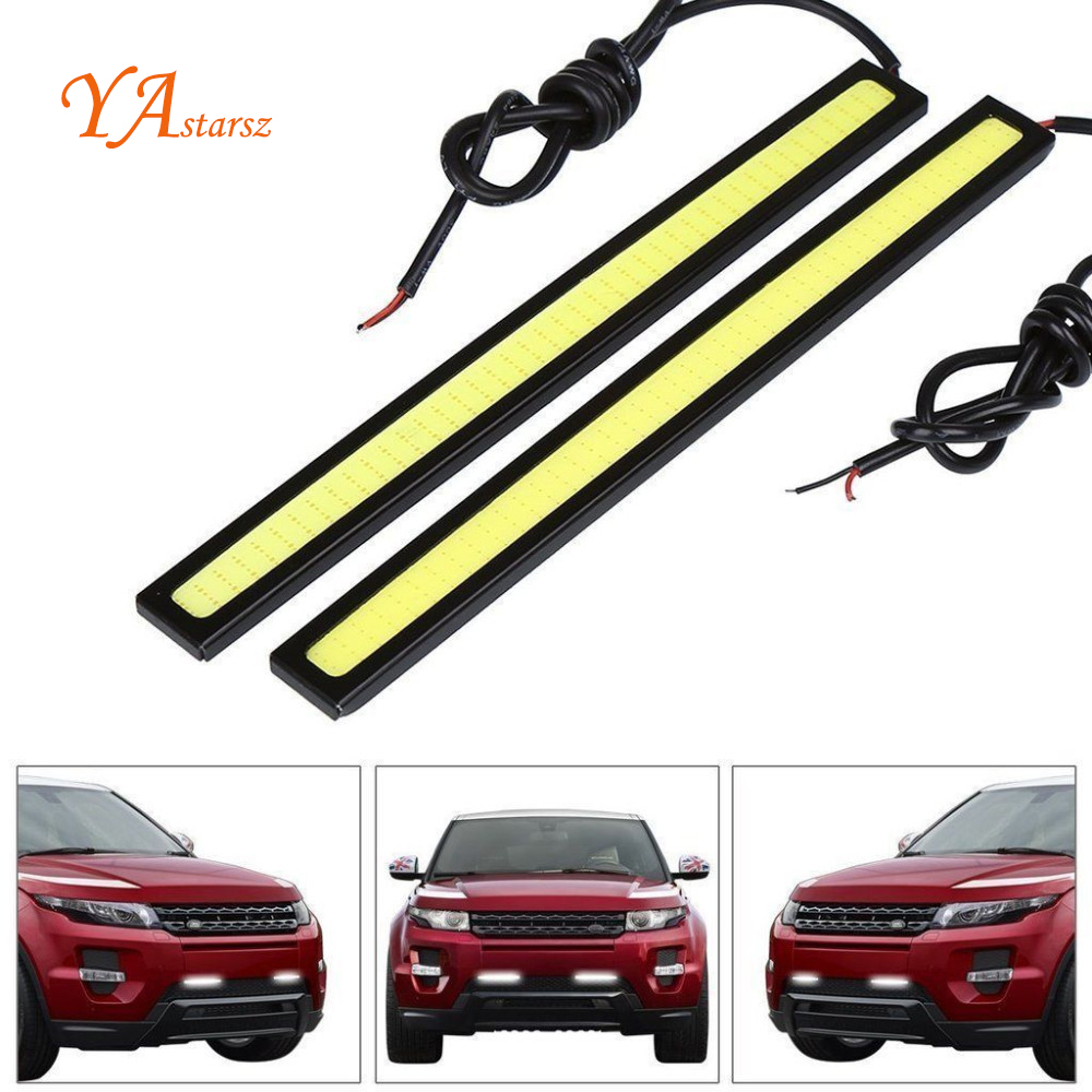 Car styling 17cm Ultra thin 9W COB Chip New update LED Daytime Running Light LED DIY DRL Fog car lights car day running lights