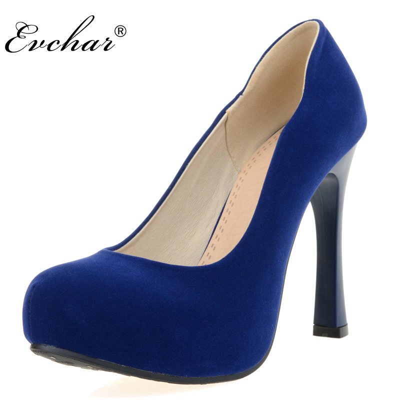 NEw Fashion  High Heels  sexy party  Shoes Pumps Slip-on Hoof Heels Platform Elegant Women  shoes black blue red Size 32-43 8colors fashion night club shoes high heel red bottom 18cm sexy slip on women platform shoes round toes size eu35 44 a18