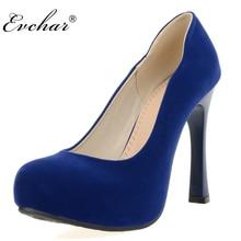 Nueva Moda Tacones Altos Zapatos atractivos del partido Bombas Slip-on Tacones Hoof Plataforma Elegante zapatos de Mujer negro azul rojo tamaño 32-43