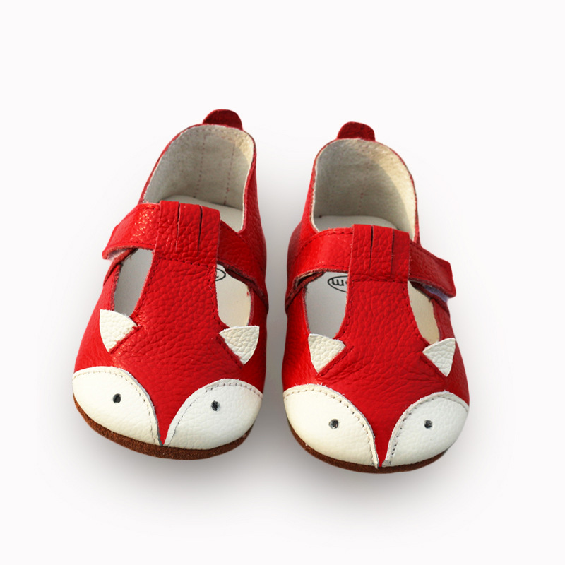 Baby First Walkers Genuine Leather Baby Shoes Cute Fox Toddler Shoes for Baby Girls