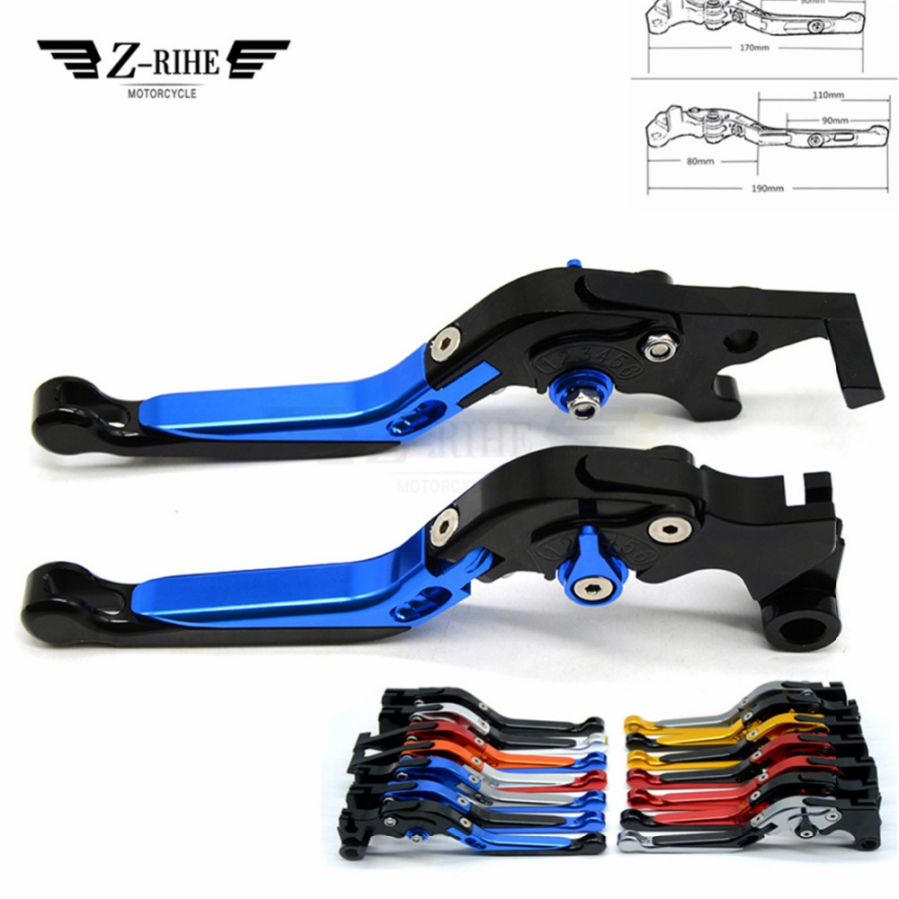 CNC quality Motorcycle Alloy Aluminum Adjustable Folding Extendable Brake Clutch Lever For <font><b>Buell</b></font> <font><b>1125CR</b></font> 2009 image