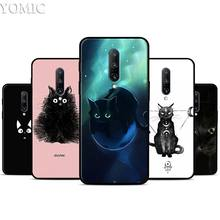 Black Cat Cartoon Silicone Case for Oneplus 7 7Pro 5T 6 6T Black Soft Case for Oneplus 7 7 Pro TPU Phone Cover