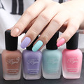 Fragrance Frosted Matte Nail Polish Frosted Bottle Candy Color 4 Pieces