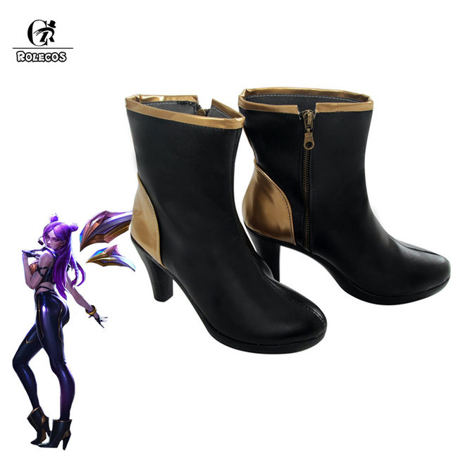 ROLECOS KDA KAISA Cosplay Shoes LOL KAISA  Cosplay Boots Women Shoes K/DA KAISA High-Heeled Shoes Boots 9CM
