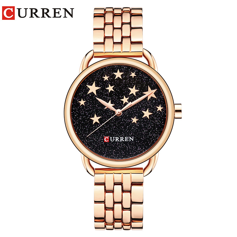 Curren NEW Fashion Quartz Watch Women Luxury Brand Gold Silver Stainless steel Ladies Bracelet relogio feminino vintage silver quartz watch fashion stainless steel luxury women watches rhinestone ladies bracelet watches relogio feminino