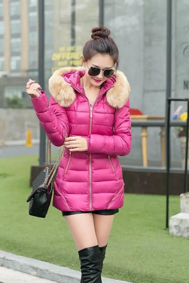 2016 kadın marka moda rahat pamuk kış ceket uzun bölüm aşağı yastıklı ceket kaban