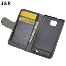 For Samsung Galaxy S2 SII i9100 GT-i9100 mobile phone case luxury high quality Original J&R Brand flip leather back cover