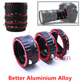 Red Aluminum Alloy AF TTL Auto Focus Macro Extension Ring Tube For Canon EF EF-S 60D 6D 600D 5D Mark iii 70D 1100D 700D 650D T5i