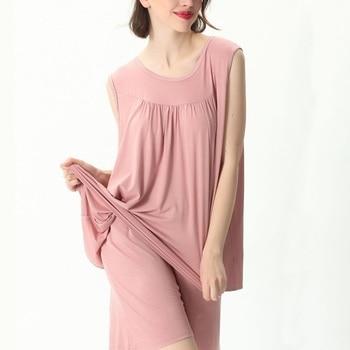 Mferlier Female Nightwear Set Large Size 4XL 5XL 6XL 7XL Ladies Solid Loose Elastic Pink Gray Black Blue Women Pajamas Set 13