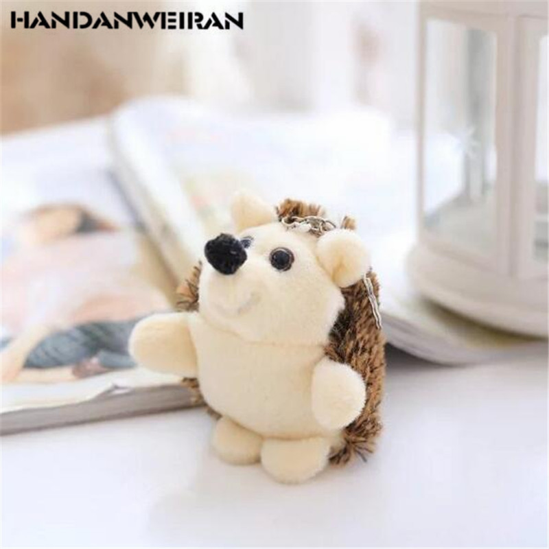 1PCS Cute Plush Hedgehog Toy Small Pendant Creative Mini Soft Stuffed Animal Toys Birthday Girls Playmate Gift 10CM HANDANWEIRAN