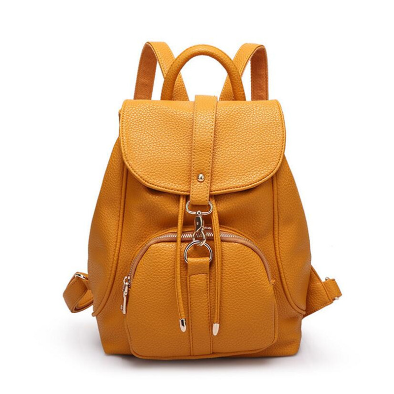 2016 Women Backpacks Leather Shoulder School Bags For Teenagers Girls Backpack Waterproof Travel Backpack