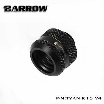 BARROW Hand Compression OD16mm Hard Tube Fitting Water Cooling Metal Connector Fitting G1/4'' Thread Compatible TEPG Acrylic 6pcs lot g1 4 thread barbed fitting connector for computer case water cooling barb fitting
