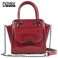 DIZHIGE Brand Designer Handbags High Quality PU Leather Bags Solid Zipper Crossbody Bag For Teenager Girl