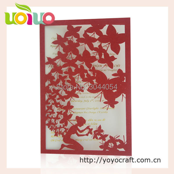 Newest Design Handmade Happy Birthday Invitation Card Special For Girl Favor