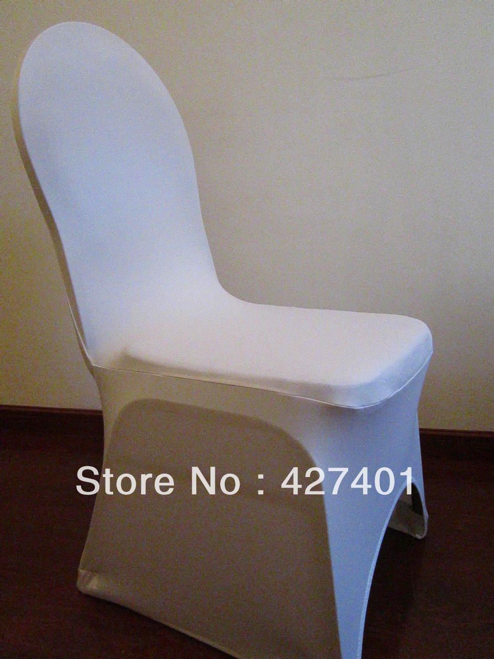 결혼식 훈장 & 당을위한 백색 Lycra 의자 덮개 / 스판덱스 의자 덮개 아치 정면