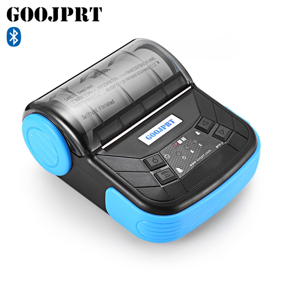 GOOJPRT MTP-3 Portable 80mm Bluetooth Thermal Printer Exquisite Lightweight Design EU Plug Support Android POS Multi-language
