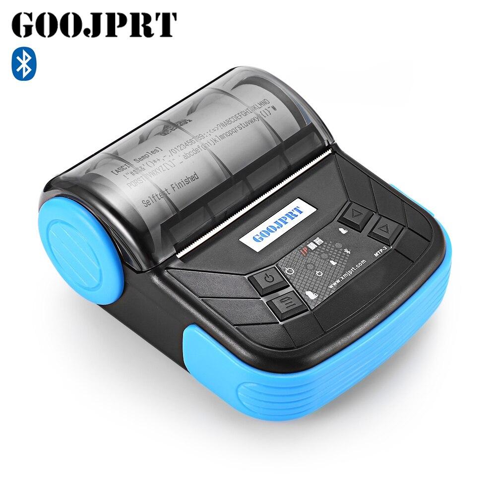 GOOJPRT MTP 3 Portable 80mm Bluetooth Thermal Printer Exquisite Lightweight Design EU Plug Support Android POS Multi language