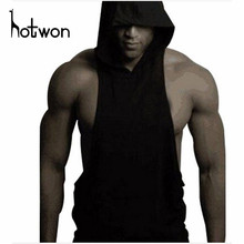 Mens Gyms Hoodie Singlets Sweatshirts sleeveless hoodies Stringer Bodybuilding Fitness Men's waistcoat Shirts Casual hoodies(China)