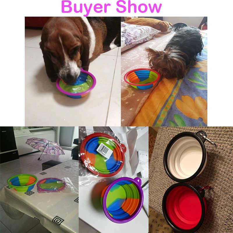 1 шт. портативная туристическая миска устройство для кормления собак контейнер для воды для еды Силиконовый маленький Mudium аксессуаров для домашних питомцев собак Складная миска для собаки наряд