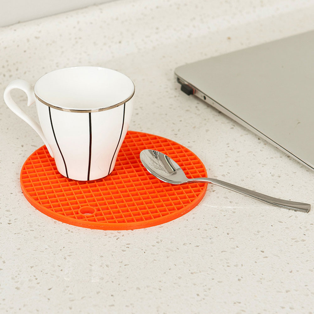 online get cheap round silicone placemats for dining aliexpress  - pc round silicone placemat dining table mat nonslip heat resistant matkitchen accessories bar