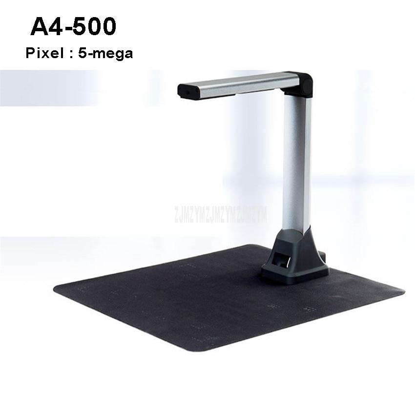 A4-500 New A4 Automatic USB Portable Digital Document Scanner Photo File Scanning 5-mega Pixels Scanner Fast Visual Presenter