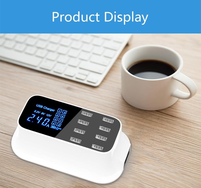 Universal 8 Ports Smart USB Charger Station Hub Led Display charger (14)
