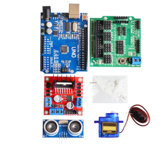 Image 3 - New Avoidance tracking Motor Smart Robot Car Chassis Kit Speed Encoder Battery Box 2WD 4WD Ultrasonic module For Arduino kit-in Integrated Circuits from Electronic Components & Supplies