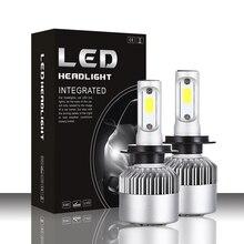 16000lm Улучшенная S2 Светодиодные Автомобильные фары с мощные чипы COB H1 H3 H4 H7 H8 H9 H11 880 881 9004 9005 9006 9007 светодиодные лампы